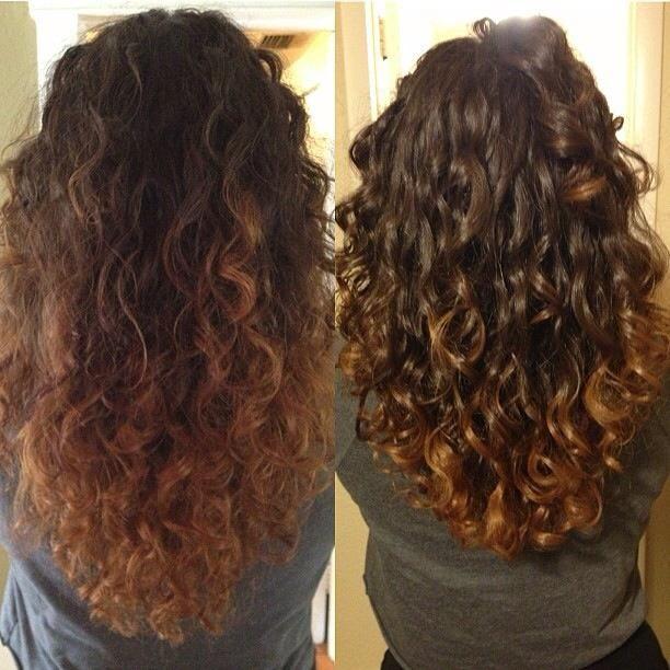 حالت دادن موهای فر با ژل مو